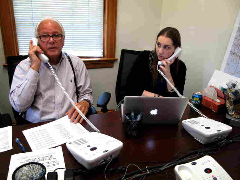 Edwards calls prospective voters Sept. 17, as he prepares to run for Congress. He wields his famous charm and charisma over the phone lines as well as in person.