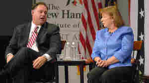 Then-incumbent Rep. Frank Guinta, R-N.H., and then-Democratic challenger Carol Shea-Porter debate during a Sept. 2012 forum at St. Anselm College in Manchester, N.H. Guinta, who lost to Shea-Porter in 2012, is running for his old seat in 2014.