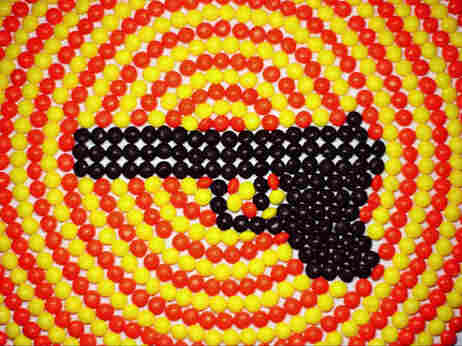 A fierce, poignant response to gun violence that makes use of Skittles and stop-motion animation.