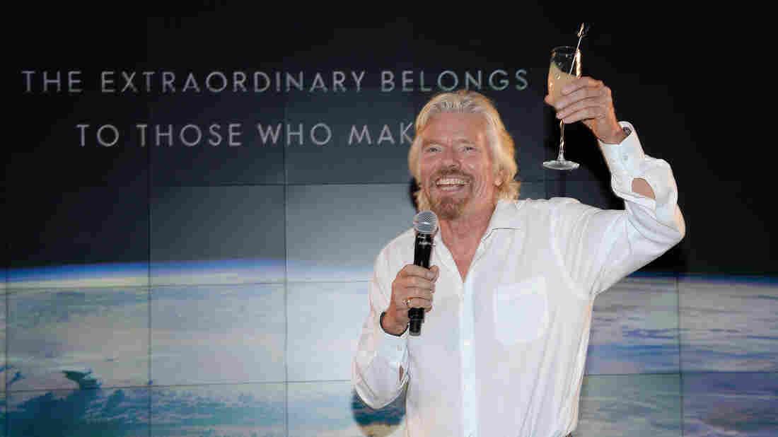 Virgin Group founder Richard Branson speaks at the Grey Goose Vodka and Virgin Galactic global partnership event on Sept. 22 in New York.