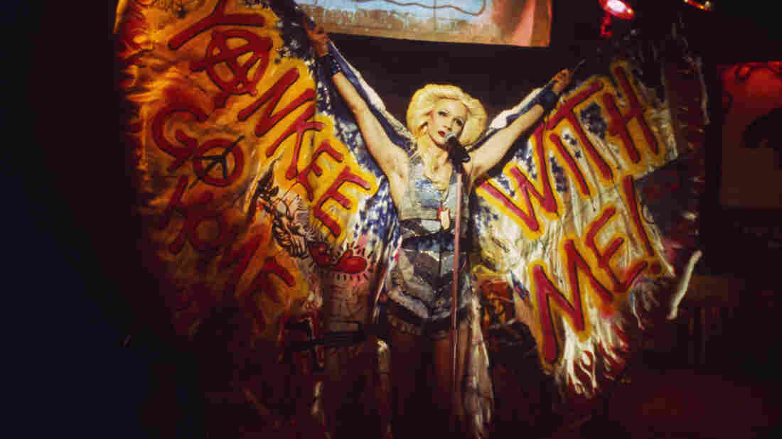 John Cameron Mitchell as Hedwig, in the 2001 film adaptation of Hedwig and the Angry Inch.