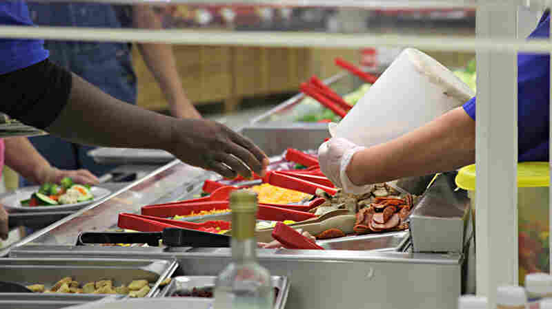Most of the unsold salad bar food at the Hy-Vee store in Independence, Mo., will be sent to composting.