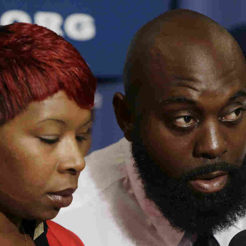 Lesley McSpadden and Michael Brown Sr., the parents of Michael Brown, at a news conference at the National Press Club in Washington earlier this week.