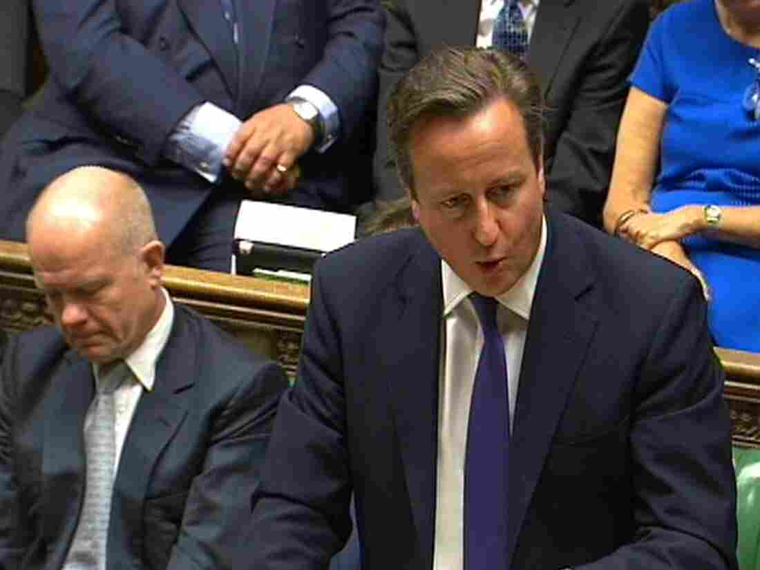 British Prime Minister David Cameron addresses the Houses of Parliament on Friday. He urged MPs to authorize the U.K.'s participation in anti-ISIS airstrikes.