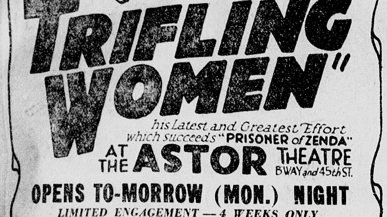 Yes, this ad was really in the newspaper – from the October 1, 1922 New York Tribune.