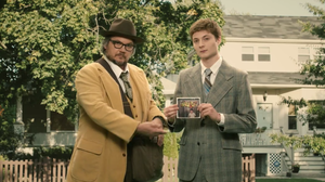 """A still from the record industry-skewering video for Tweedy's song """"Low Key,"""" directed by Nick Offerman."""