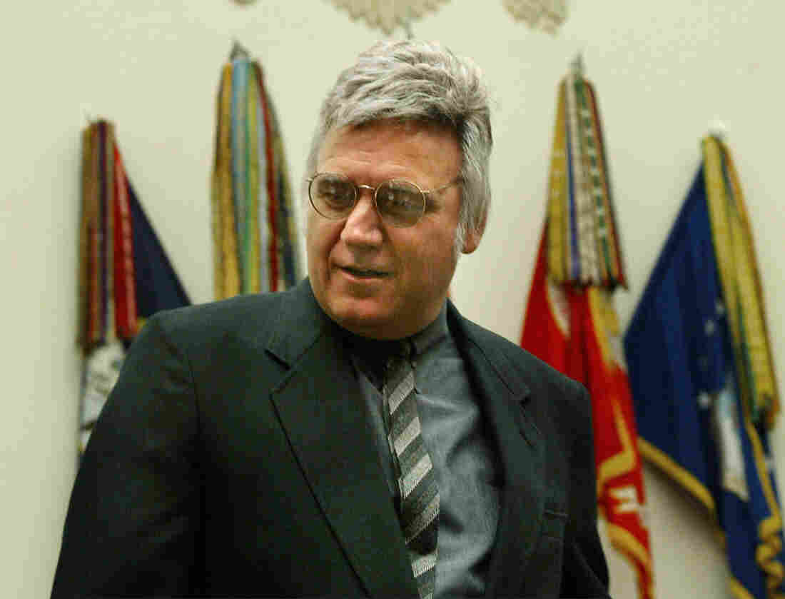 Former Rep. James Traficant, seen here arriving at a House ethics hearing in 2002, has died at age 73.