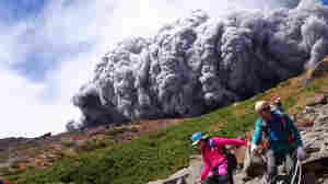 Hiker Catches Volcano's Eruption On Video, And Is Overtaken By Ash