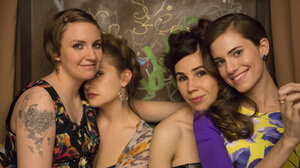 Lena Dunham (left) plays Hannah on the HBO series Girls. She also writes about the other women in their 20s, including Jessa (Jemima Kirke), Shoshanna (Zosia Mamet) and Marnie (Allison Williams).
