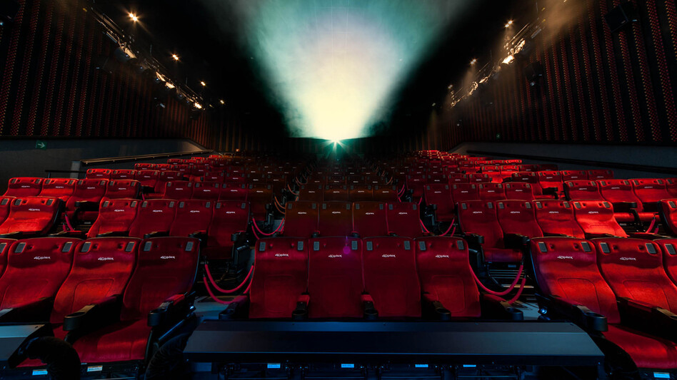 Theaters that call themselves 4-D use lights, moving seats, fog and even sprays of water and air to give moviegoers a unique experience — one they hope audiences will consider worthy of higher ticket prices. (Ernesto López Ruiz/Courtesy of CJ E&M America )