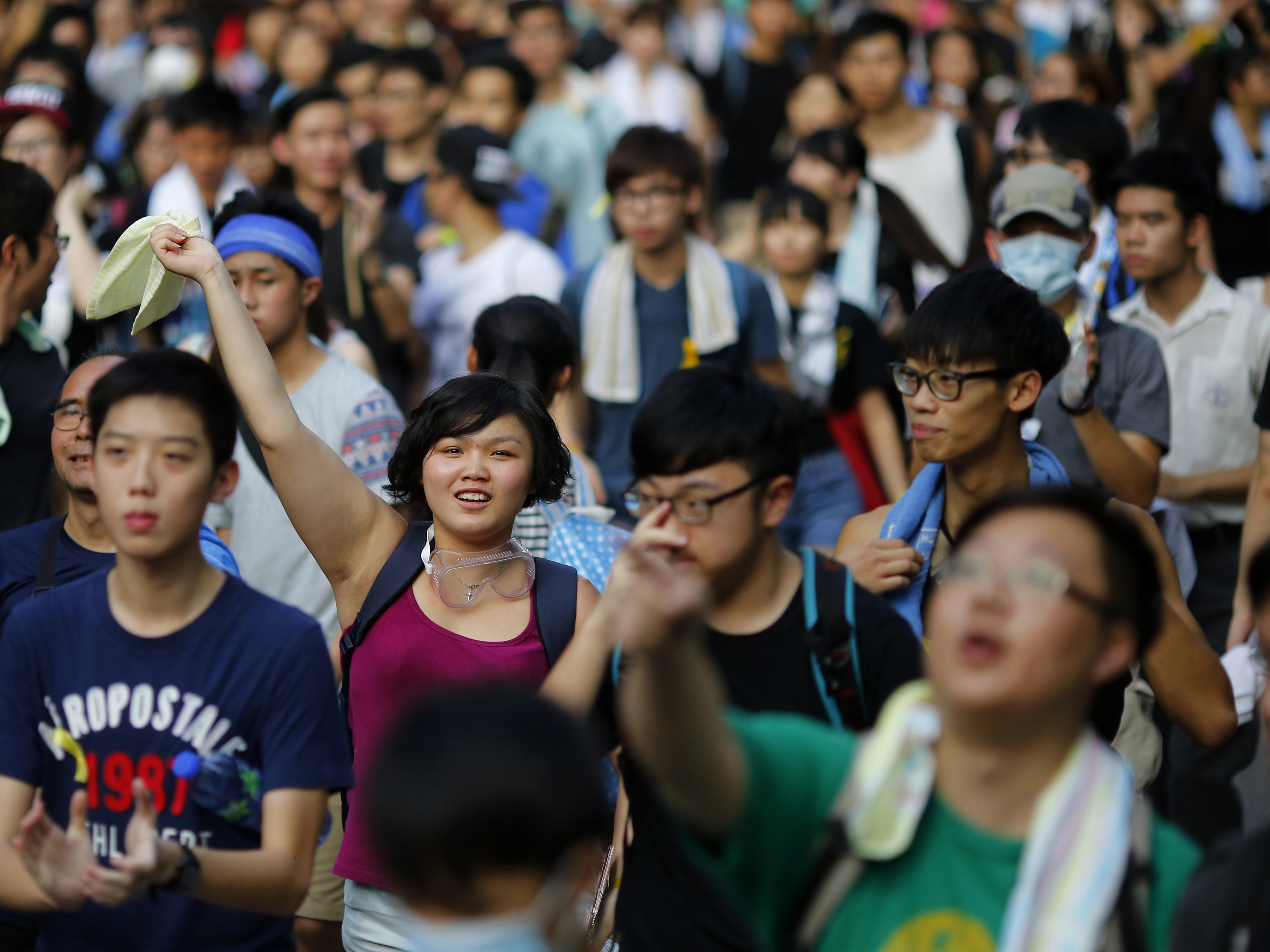 Hong Kong Tense As Democracy Activists Face Down Police