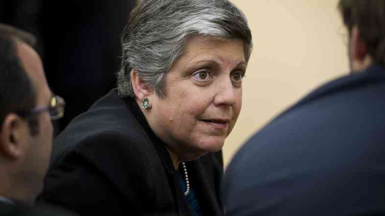 University of California President Janet Napolitano.