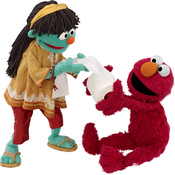 Raya might tickle Elmo with toilet paper if he doesn't use it properly.