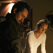 Demian Bichir, left, and Diane Kruger star in FX's cross-border crime drama The Bridge.