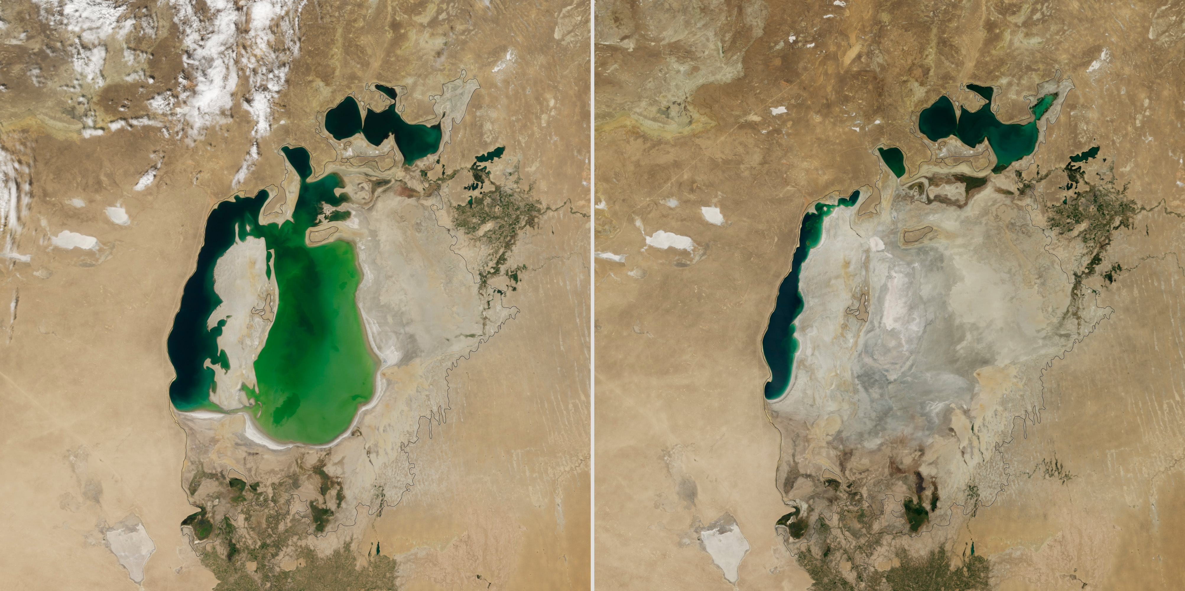 Aral Sea's Eastern Basin Has Dried Out, NASA Photos Show