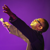 Senegalese superstar singer Youssou N'Dour performs in Lagos, Nigeria in 2009.