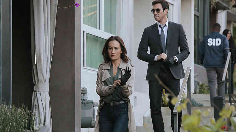 Maggie Q and Dylan McDermott in CBS's Stalker.
