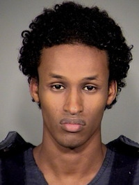 Mohamed Osman Mohamud, then 19, is shown after his arrest on Nov. 26, 2010, in Portland, Ore. Mohamud was convicted of planning to detonate a bomb during a Christmas tree-lighting ceremony.