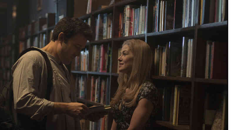 Ben Affleck and Rosamund Pike star as Nick and Amy Dunne in the new psychological thriller Gone Girl.