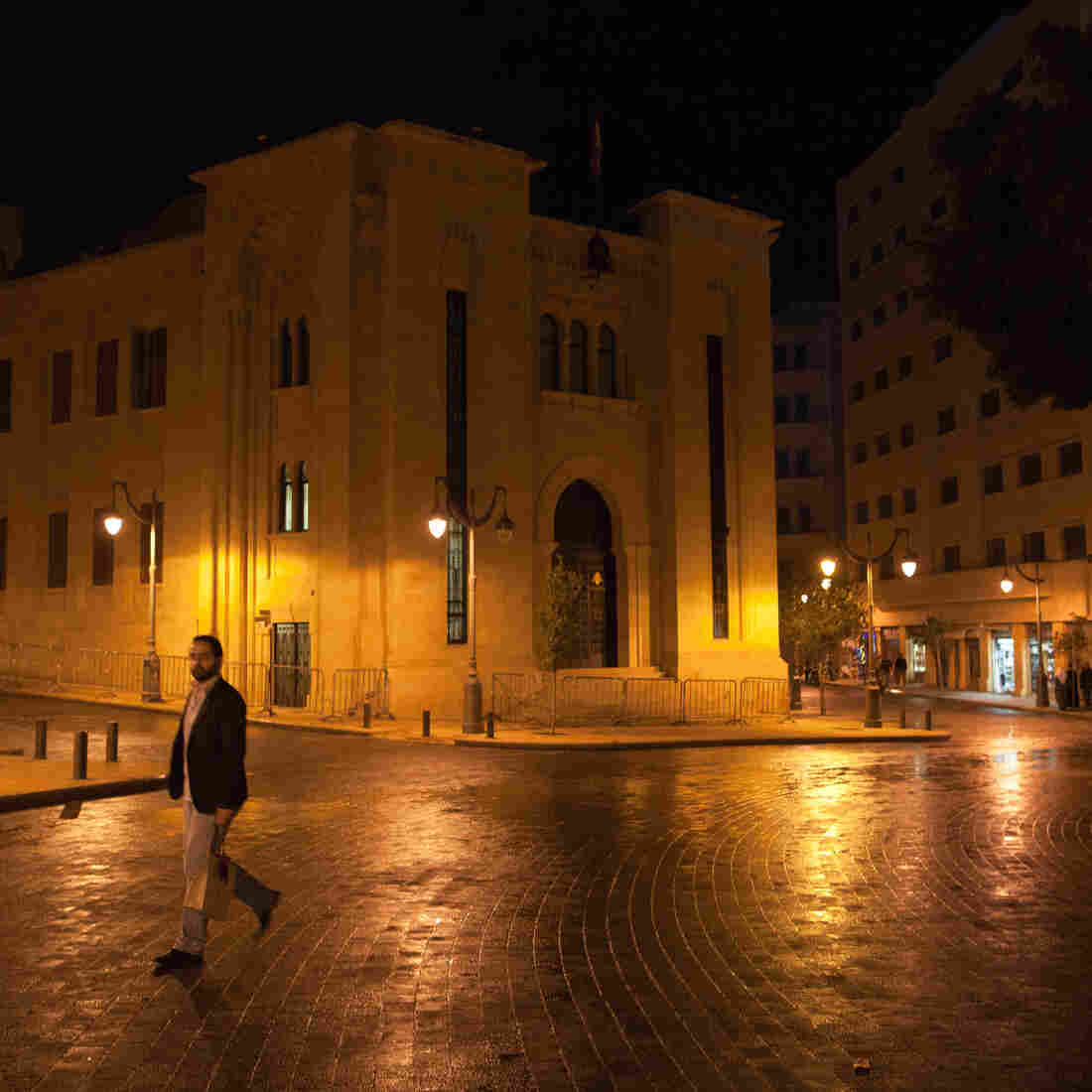 Lebanon's parliament sits in Beirut's rebuilt Nejmeh Square, near the center of the city. Unlike many of Beirut's neighborhoods, the square is often mostly empty.