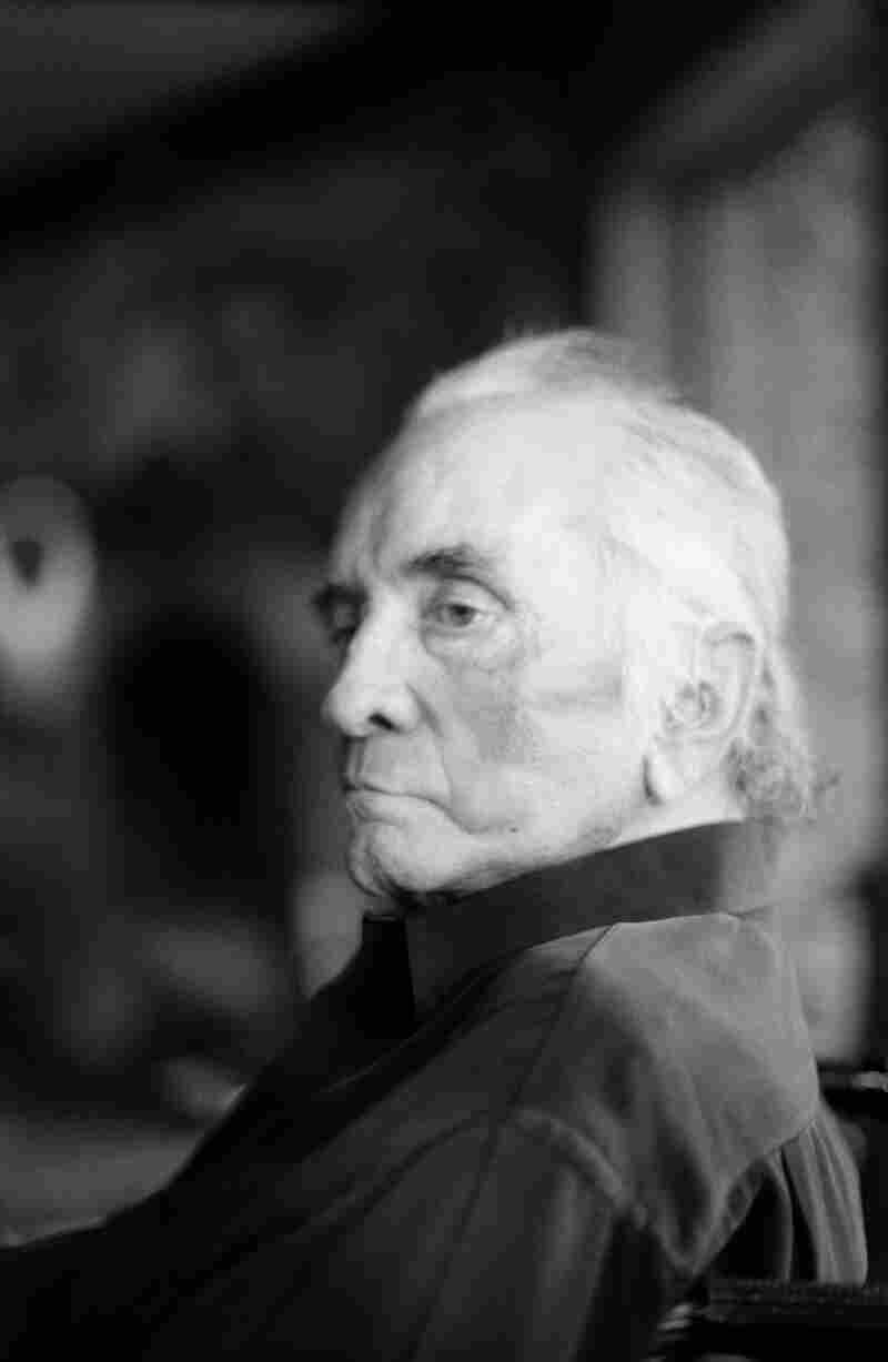 """""""On the third frame I said, 'JR!' and he sat up straight and pulled on that black collar and he became Johnny Cash. Four days later, he was gone,"""" Marty Stuart says of his photograph."""