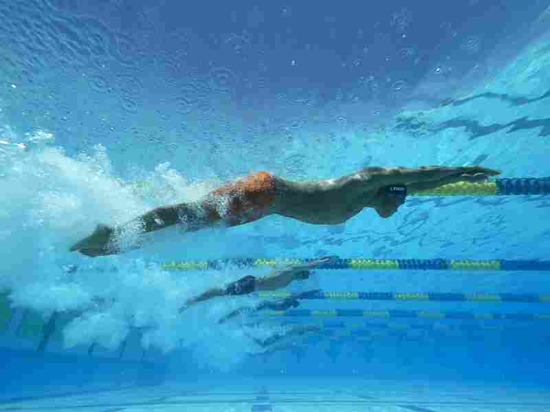 Justin Lynch competes in April at Skyline Aquatic Center in Mesa, Ariz.