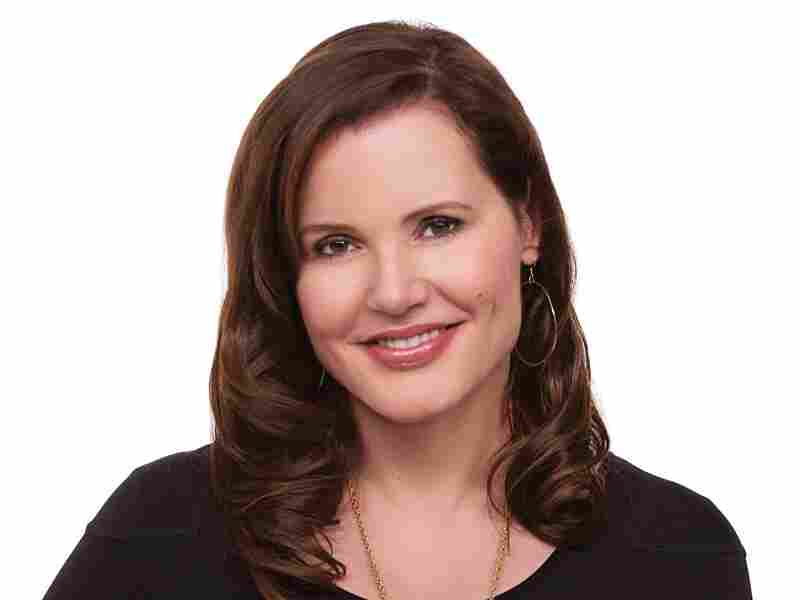 """After college, Geena Davis got a job at an Ann Taylor clothing store. Then she noticed an empty chair in a window display, and she decided to sit down and freeze. """"I was a live mannequin,"""" she says."""