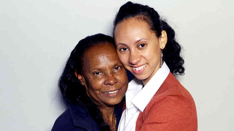 Sonia Vasquez with her daughter, Tina, during a recent visit with StoryCorps in New York City.