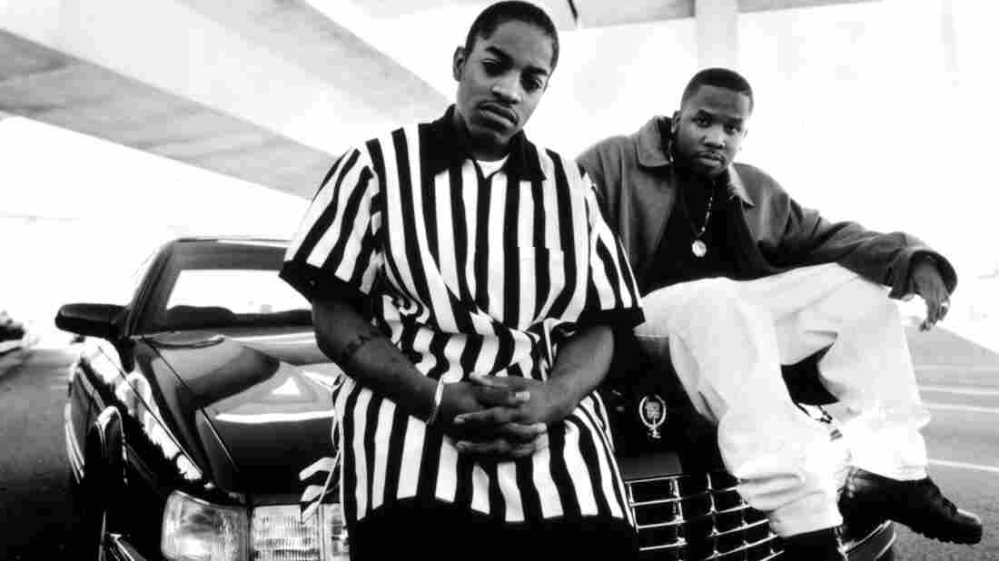 Two dope boys on a Cadillac: Andre 3000 and Big Boi in the early days.