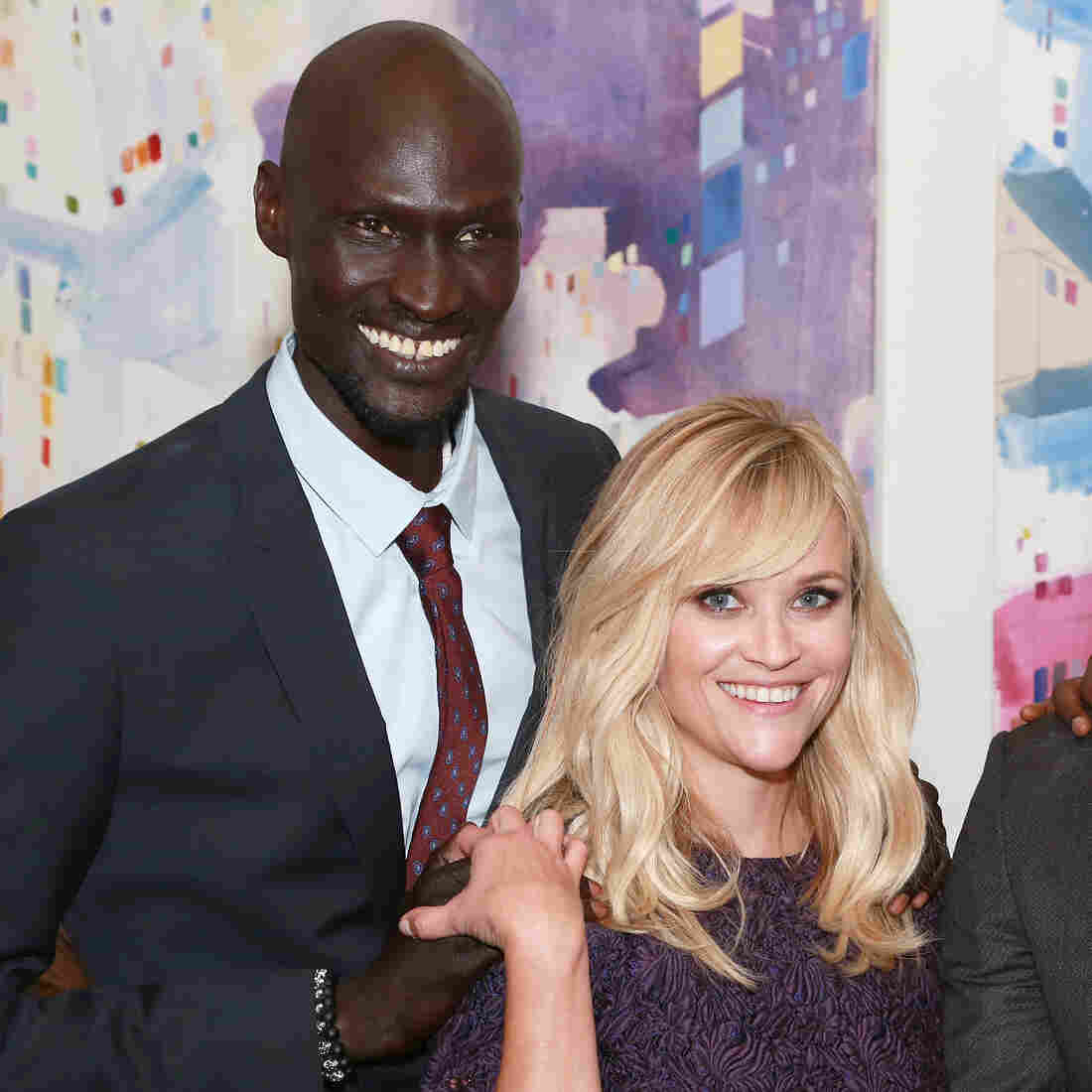 "Ger Duany, Reese Witherspoon and Arnold Oceng seen at Warner Bros. ""The Good Lie"" Premiere at 2014 TIFF on Sunday, Sep. 7, 2014, in Toronto."