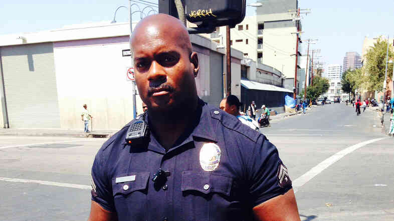 LAPD Officer Deon Joseph has patrolled Skid Row for 17 years.