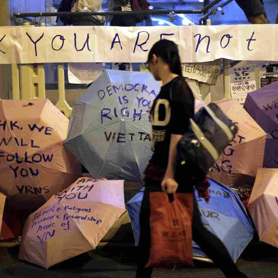 On China's Mainland, A Less Charitable Take On Hong Kong's Protests