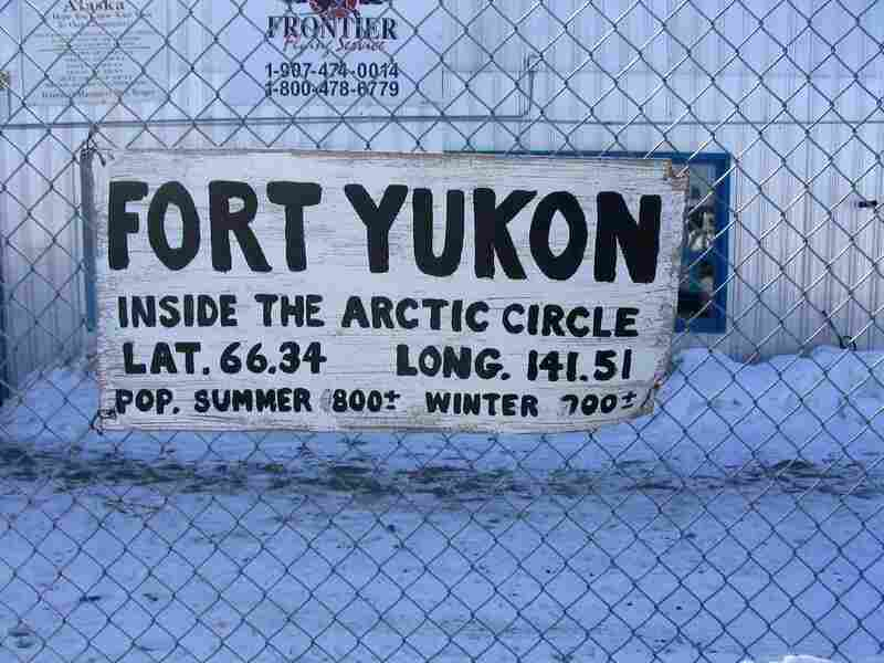 Fort Yukon is one of several Alaskan towns  where Gwich'in is spoken.