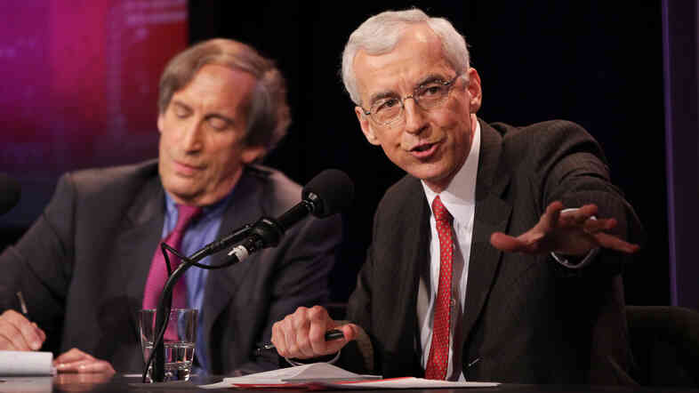 Paul Pillar (right), a former national intelligence officer, with teammate Aaron David Miller, argues that the U.S. should have a smaller military footprint in the Middle East.