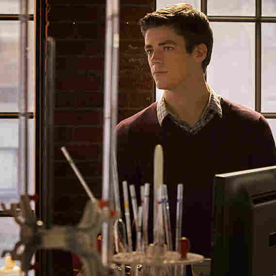 Grant Gustin as Barry Allen on The Flash.