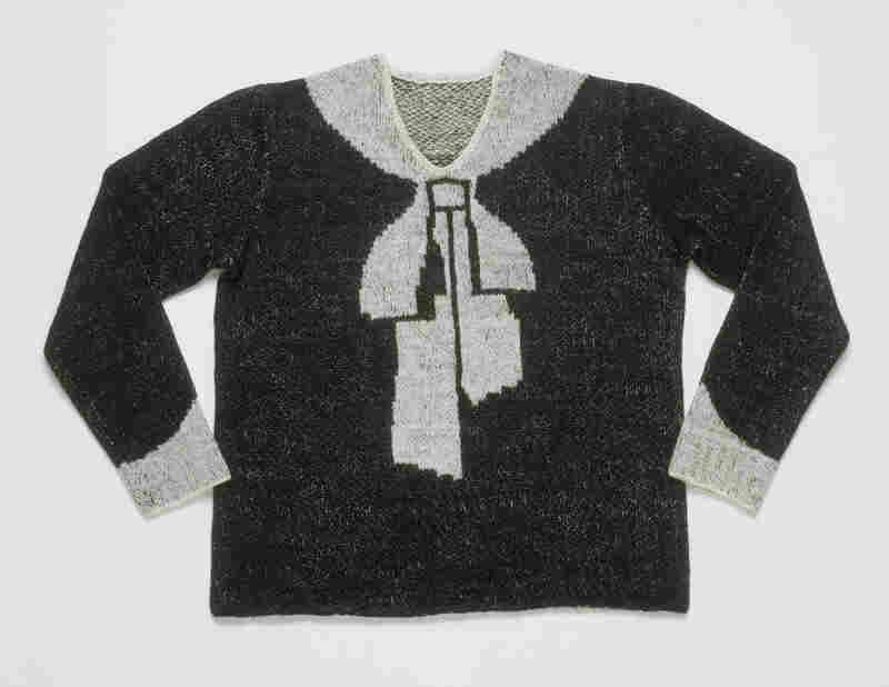 "Women's ""Bowknot"" sweater, hand-knitted wool, 1927."