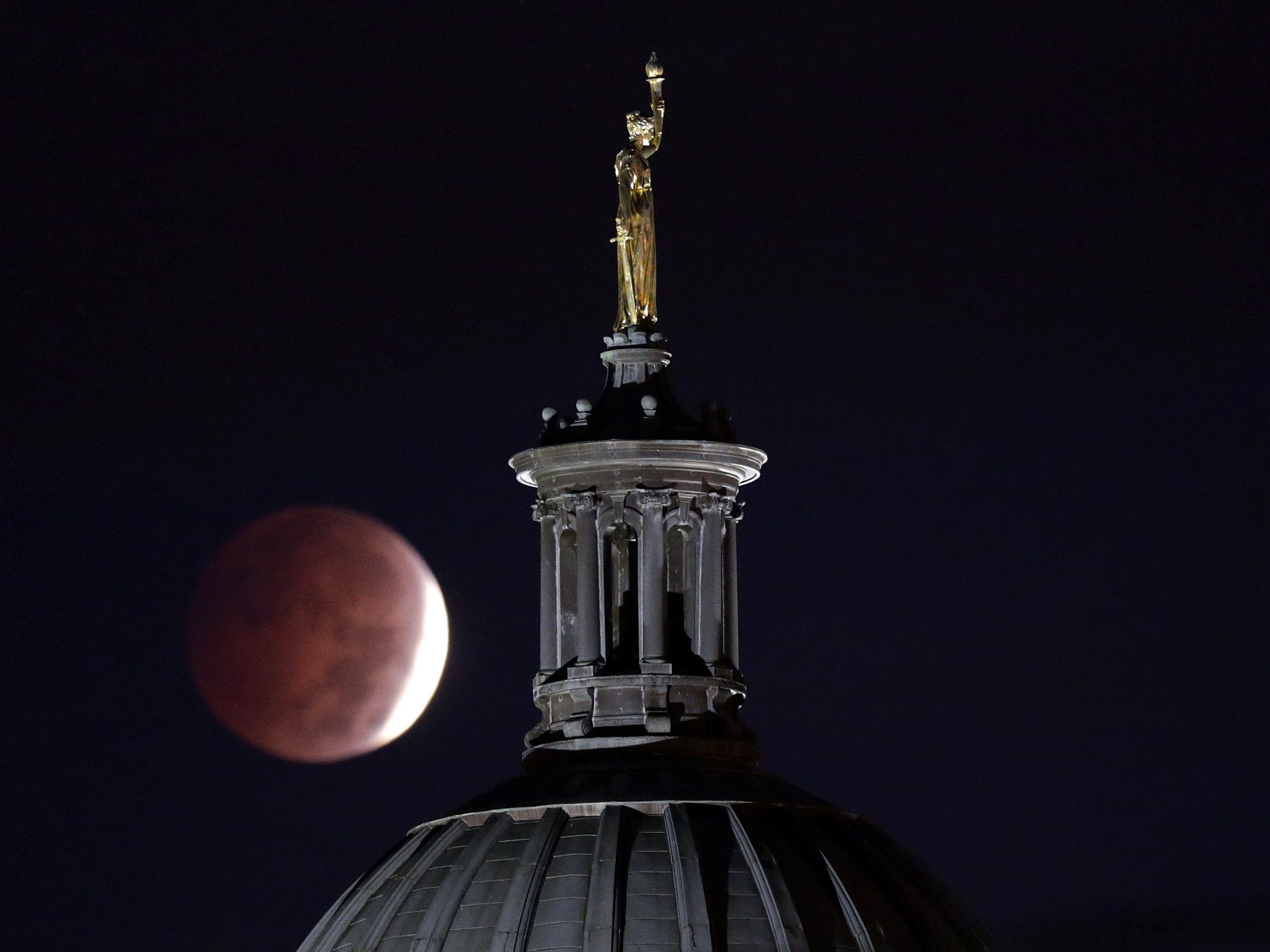 The 'Blood Moon' Eclipse Was Quite A Show