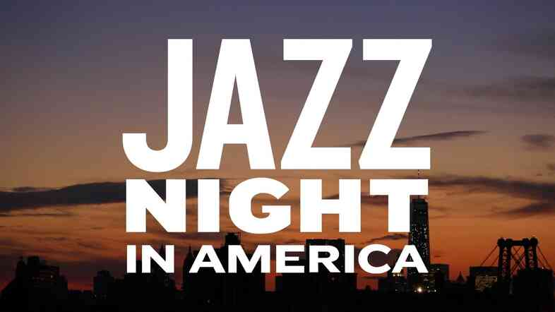 Jazz Night In America logo with sunset