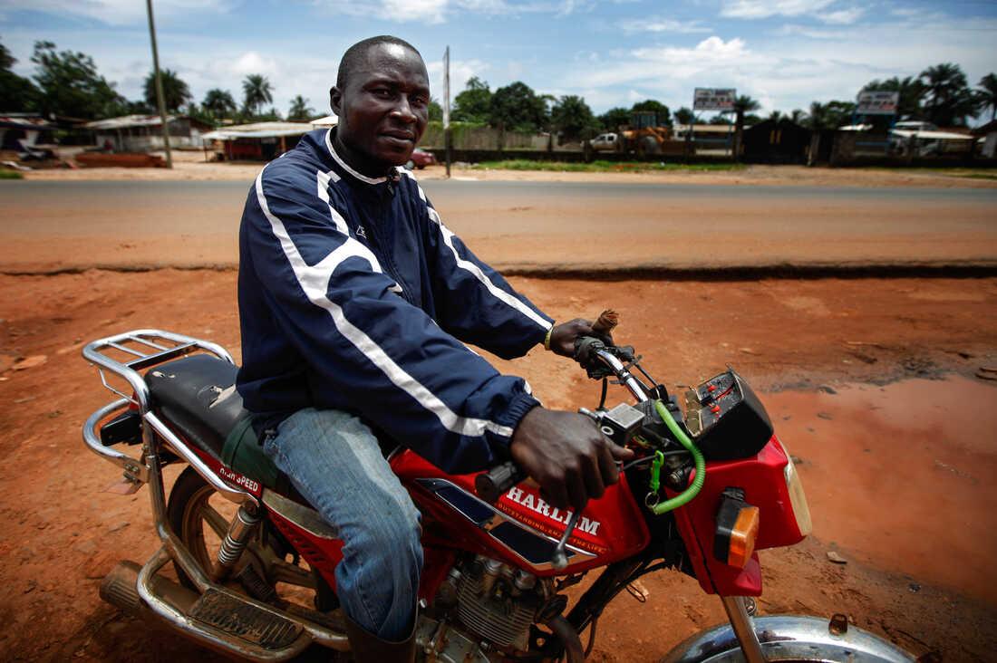 Alieu Massaly, 32, Motorcycle Taxi Driver