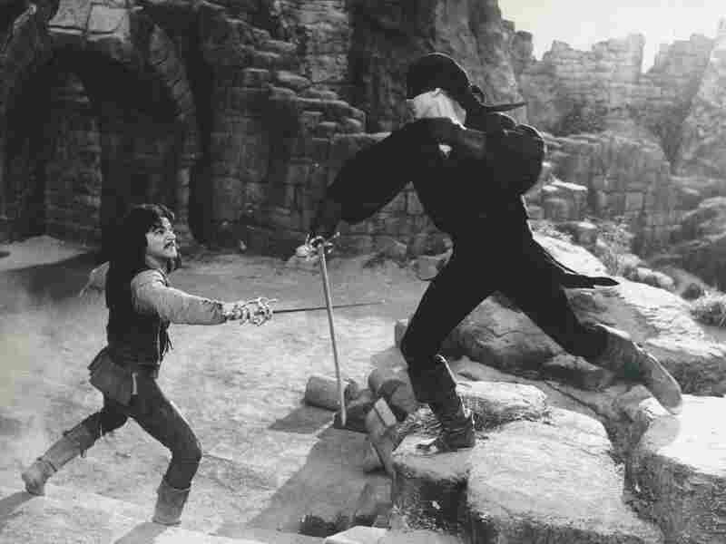 Westley (Elwes) fights to rescue Buttercup when she's kidnapped by, among others, Spanish swordsman Inigo Montoya (Mandy Patinkin).