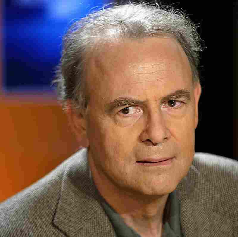 French writer Patrick Modiano's most recent novel is Pour que tu ne te perdes pas dans le quartier. Modiano is pictured in 2003.