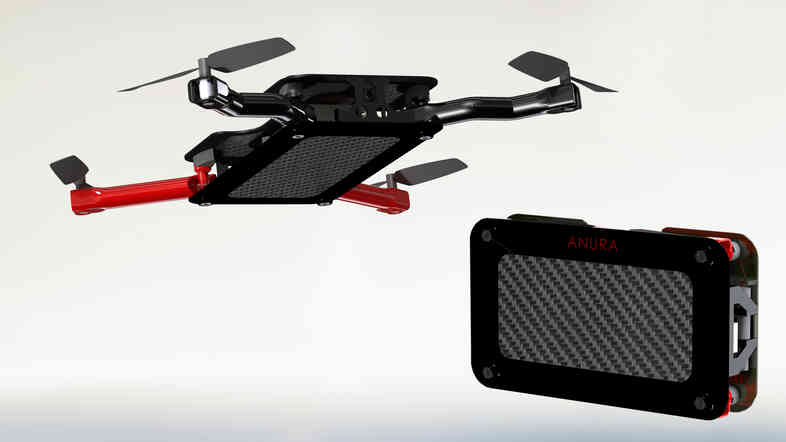 The AeriCam Anura pocket-sized drone has foldable propellers so you can take it on the go. The company plans to put the drone on Kickstarter by mid-October.