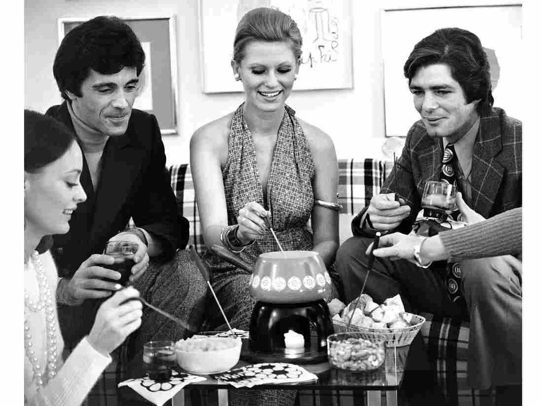 Fondue party in the 1970s