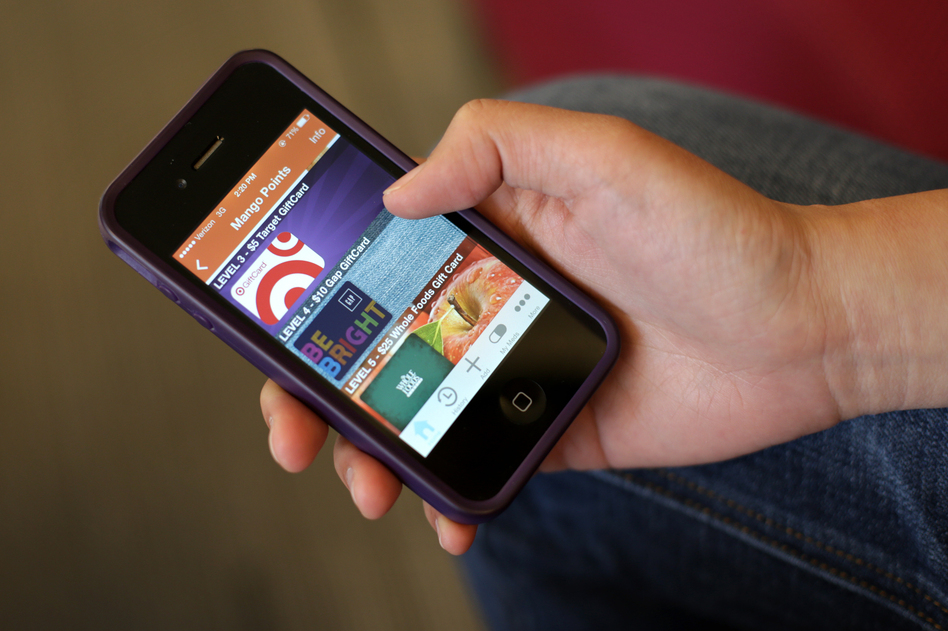 A view of the rewards screen on the Mango Health app. (Meredith Rizzo/NPR)