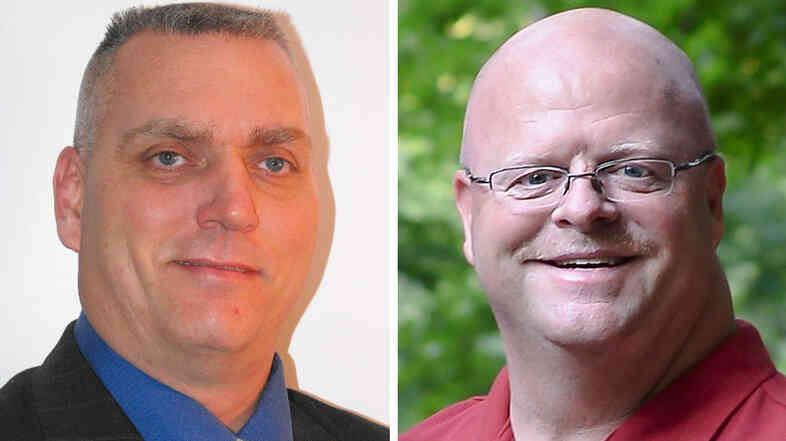 Scott Hildebrand, a Democrat, and Mike Jansen, a Republican, are competing to be the new sheriff in Campbell County, Ky., but they're also abiding by an agreement to keep their race clean.