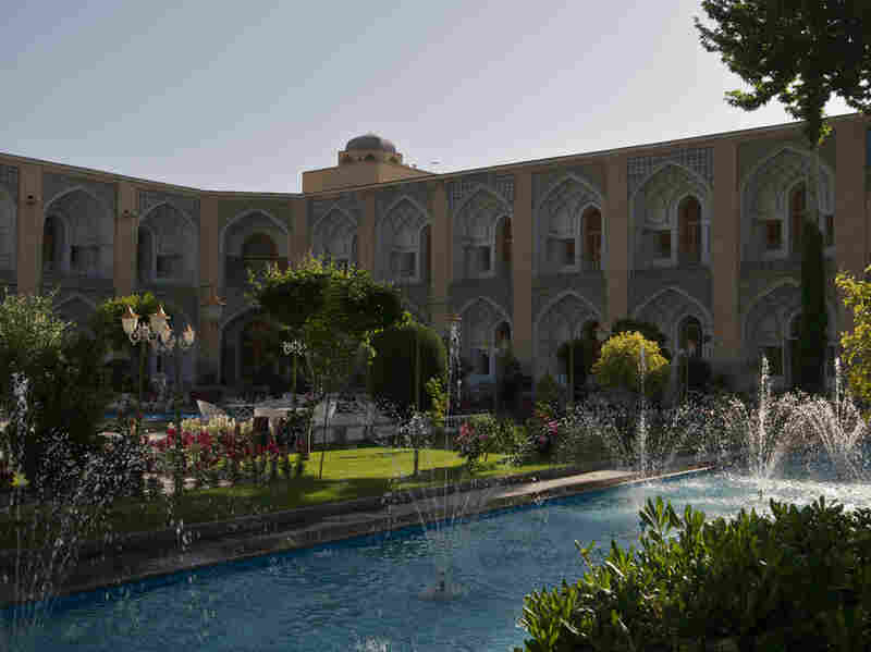 Water gurgles throughout the gardens of the Abbasi Hotel in Esfahan.