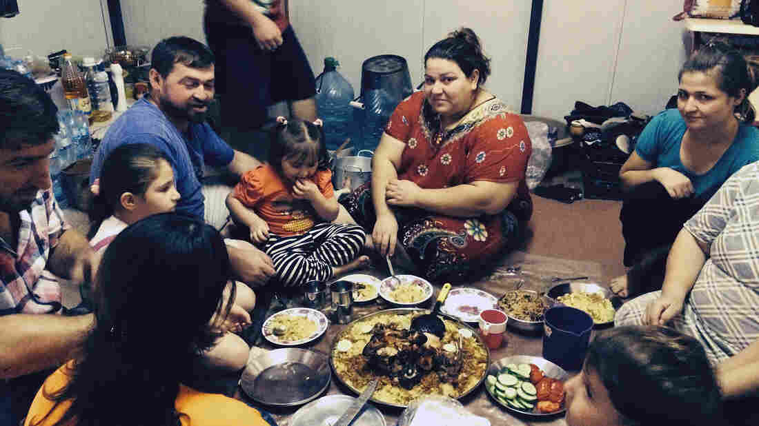 Leeza Guerges and her family were displaced from a Christian town near the northern city of Mosul when ISIS took the city about two months ago.