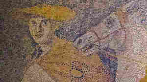 The Greek god Hermes is seen in a newly found mosaic, leading a chariot and its rider into the afterlife.