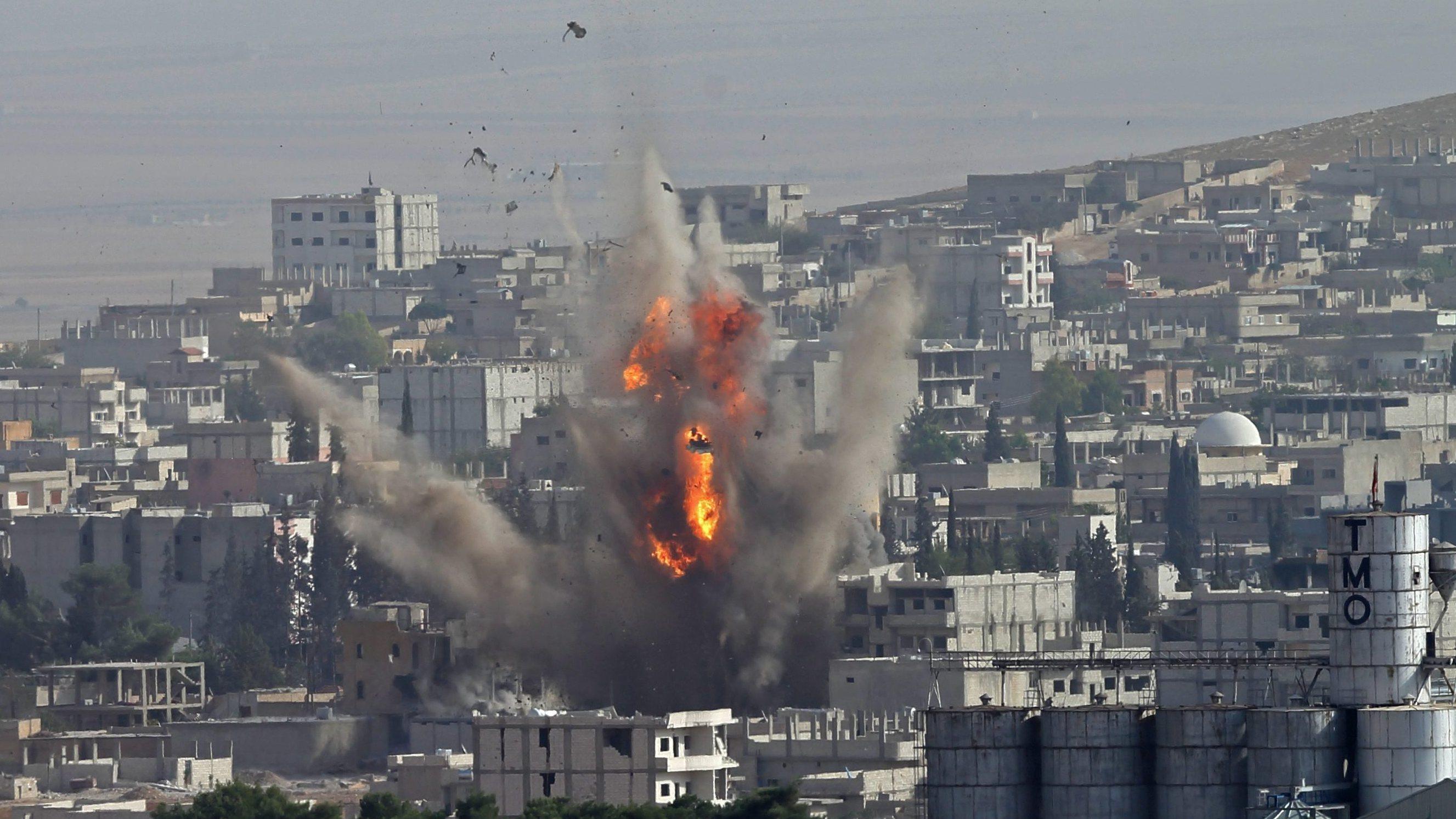 U.S. Strikes At ISIS In Kobani As Kurds Claim Progress