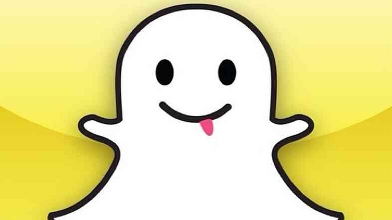 Snapchat's logo.